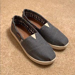 Light Navy Blue TOMS Children's Shoes